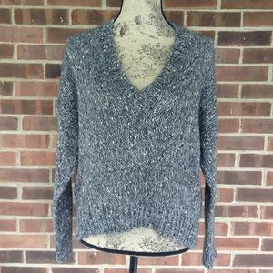Like new Zara knit grey sweater sequins